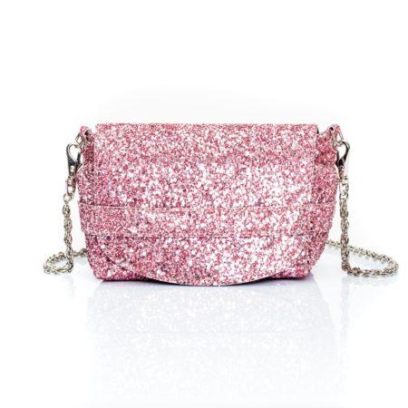 Mini bag glitter connecté