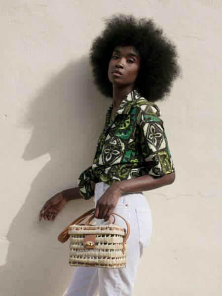 Panier Zanzibar Cognac - Il Etait Un Fil